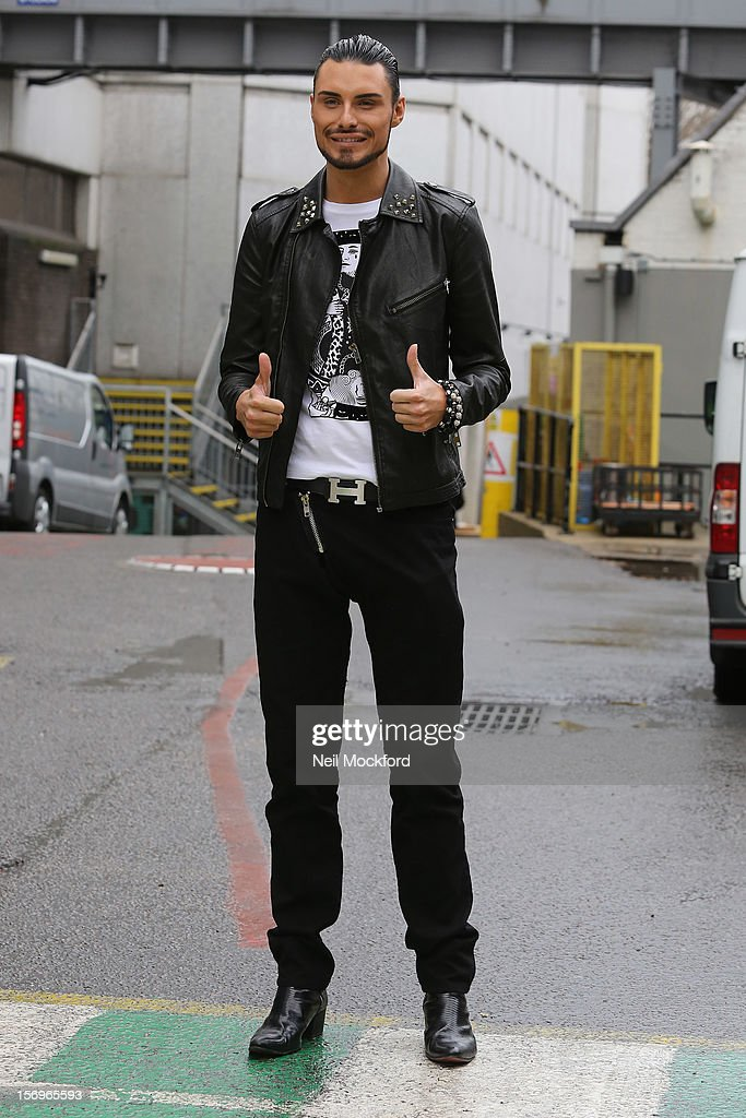 Rylan Clark seen at the ITV Studios on November 26, 2012 in London, England.