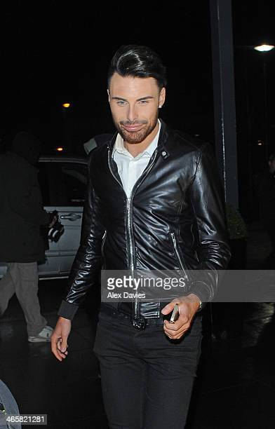 Rylan Clark sighting on January 30 2014 in London England