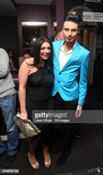 Rylan Clark with a friend at a catwalk show at Funkymojoe in London to raise money for children's charity Havens House