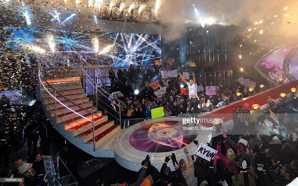 Rylan Clarke is crowned winner of Celebrity Big Brother at Elstree Studios on January 25, 2013 in Borehamwood, England.