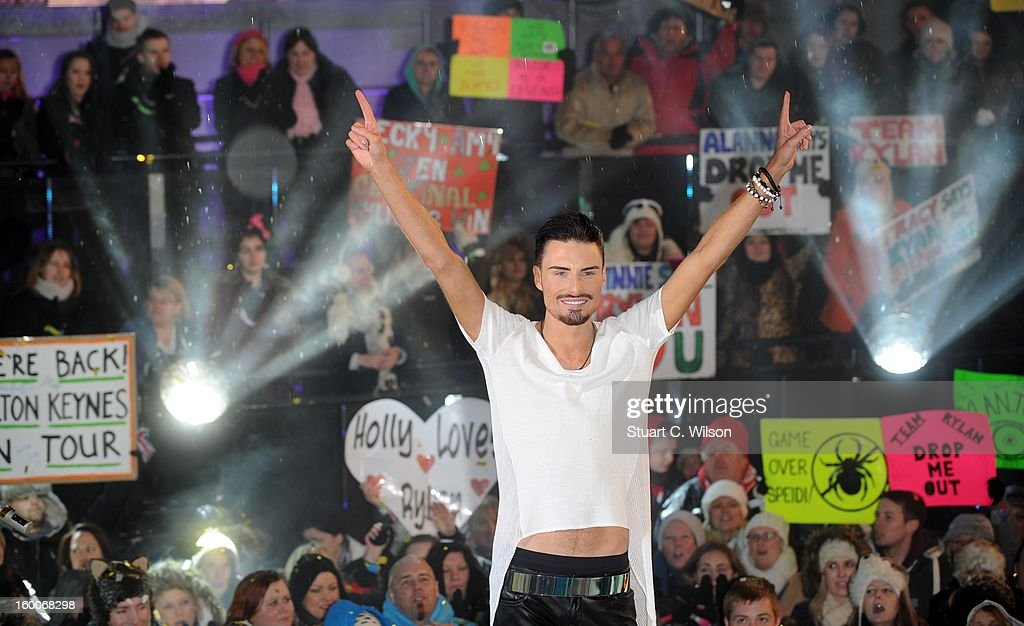 Rylan Clarke is crowned winner of Celebrity Big Brother at Elstree Studios on January 25, 2013 in Borehamwood, England.