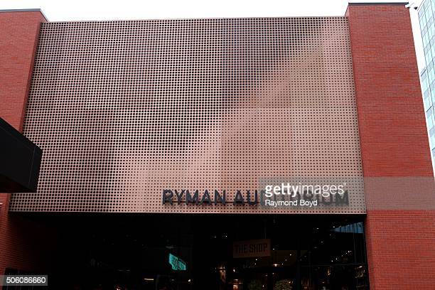 Ryman Auditorium entrance on December 30 2015 in Nashville Tennessee