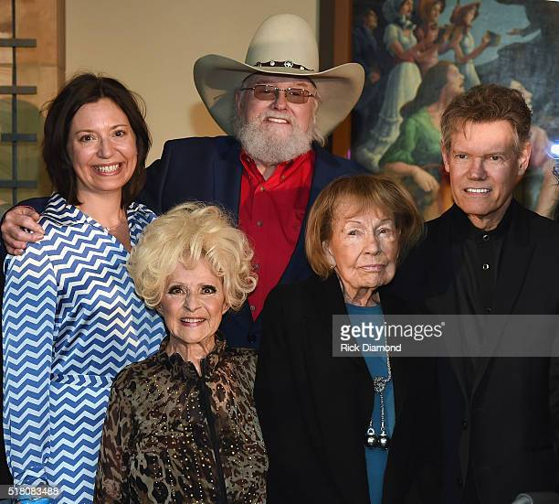 Ryman GM Sally Williams Hall of Fame member Brenda Lee New Inductee Charlie Daniels Hall of Fame member Jo WalkerMeador and New Inductee Randy Travis...