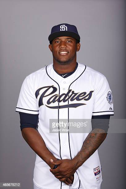 Rymer Liriano of the San Diego Padres poses during Photo Day on Monday March 2 2015 at Peoria Stadium in Peoria Arizona
