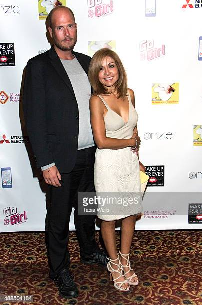 RymVR Studios Executive Producer and CEO Ovar Fridriksoon and Ina Tice arrive at Premiere Party For 'Liv Out Loud' at Akbar on September 14 2015 in...