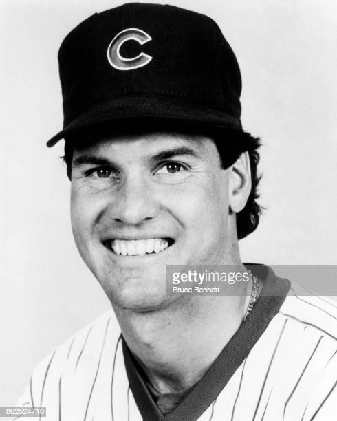 Ryne Sandberg of the Chicago Cubs poses for a portrait during Spring Training circa March 1990 in Mesa Arizona