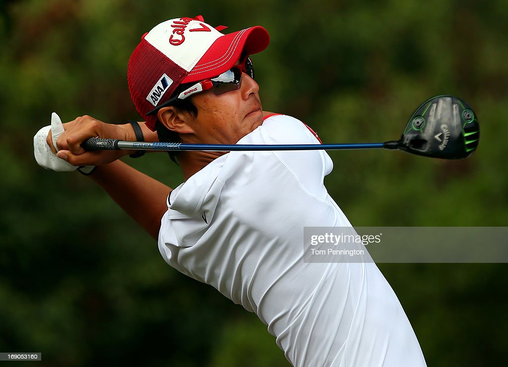 <a gi-track='captionPersonalityLinkClicked' href=/galleries/search?phrase=Ryo+Ishikawa&family=editorial&specificpeople=4297023 ng-click='$event.stopPropagation()'>Ryo Ishikawa</a> of Japan hits a shot during the final round of the 2013 HP Byron Nelson Championship at the TPC Four Seasons Resort on May 19, 2013 in Irving, Texas.