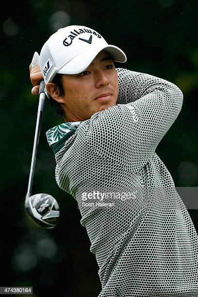 Ryo Ishikawa of Japan hits a shot from the 9th tee during the second round of the Crowne Plaza Invitational at the Colonial Country Club on May 22...