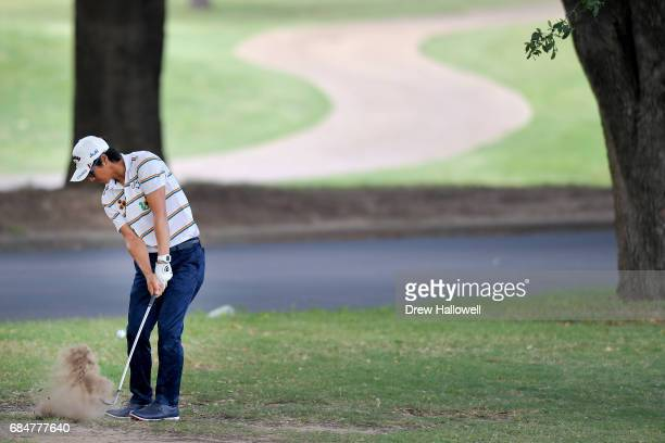 Ryo Ishikawa of Japan hits a shot on the 11th hole during Round One of the ATT Byron Nelson at the TPC Four Seasons Resort Las Colinas on May 18 2017...