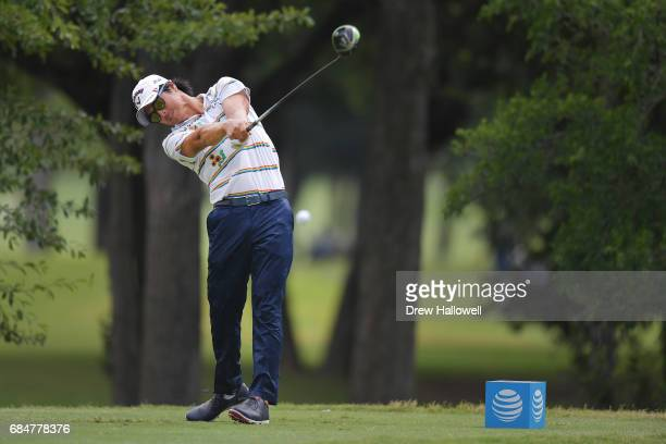 Ryo Ishikawa of Japan hits a shot on the 12th tee during Round One of the ATT Byron Nelson at the TPC Four Seasons Resort Las Colinas on May 18 2017...