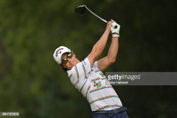 Ryo Ishikawa of Japan hits a shot on the 15th tee during Round One of the ATT Byron Nelson at the TPC Four Seasons Resort Las Colinas on May 18 2017...