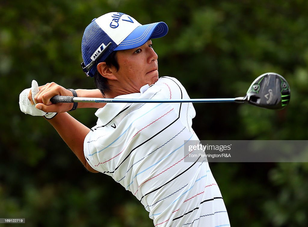 <a gi-track='captionPersonalityLinkClicked' href=/galleries/search?phrase=Ryo+Ishikawa&family=editorial&specificpeople=4297023 ng-click='$event.stopPropagation()'>Ryo Ishikawa</a> of Japan hits a tee shot during The Open Championship International Final Qualifying America at Gleneagles Golf and Country Club on May 20, 2013 in Plano, Texas.