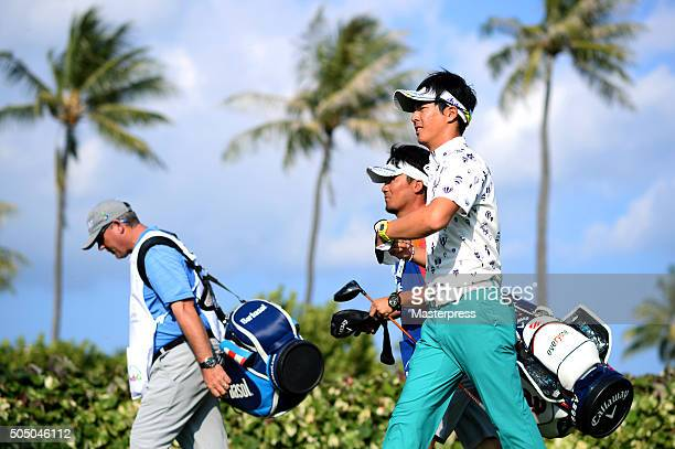 Ryo Ishikawa of Japan looks on during the first round of the Sony Open In Hawaii at Waialae Country Club on January 14 2016 in Honolulu Hawaii