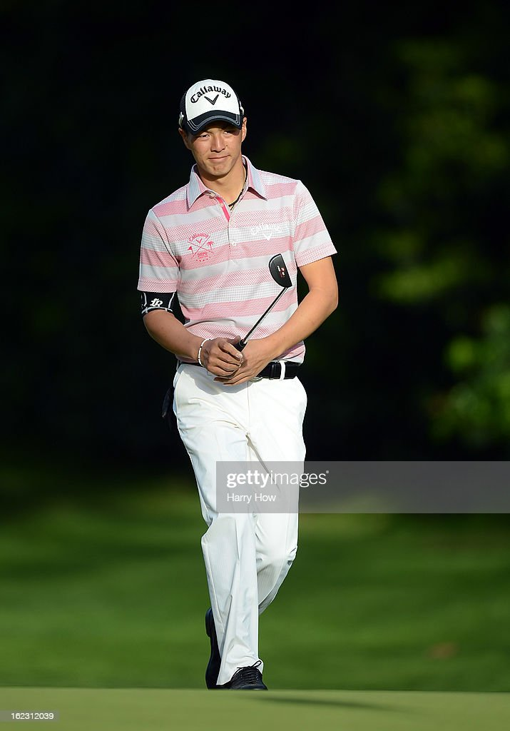 Ryo Ishikawa of Japan makes his way to the 12th green during the second round of the Northern Trust Open at the Riviera Country Club on February 15, 2013 in Pacific Palisades, California.