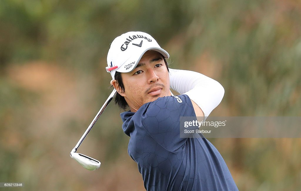 Ryo Ishikawa of Japan plays a shot on Pro-Am Day ahead of the World Cup of Golf at Kingston Heath Golf Club on November 23, 2016 in Melbourne, Australia.