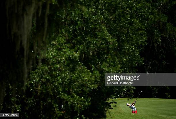 Ryo Ishikawa of Japan plays his second shot on the second hole during round three of THE PLAYERS Championship at the TPC Sawgrass Stadium course on...
