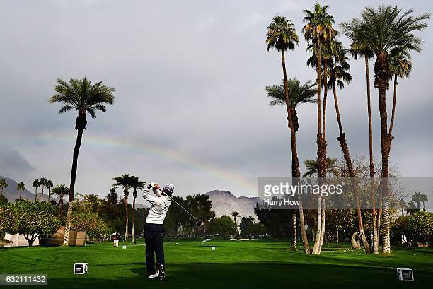 Ryo Ishikawa of Japan plays his shot from the fifth tee during the first round of the CareerBuilder Challenge in Partnership with The Clinton...