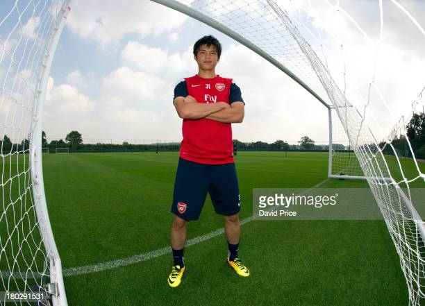 Ryo Miyaichi of Arsenal at London Colney on September 4 2013 in St Albans England