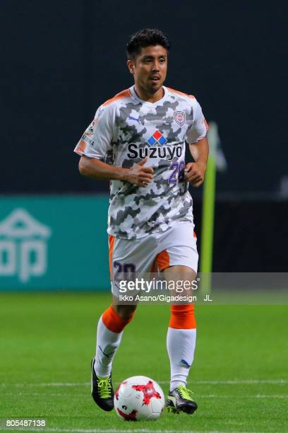Ryo Takeuchi of Shimizu SPulse in action during the JLeague J1 match between Consadole Sapporo and Shimizu SPulse at Sappaoro Dome on July 1 2017 in...