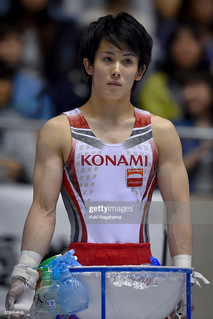 Ryohei Kato looks on in the Horizontal Bar during the Artistic Gymnastics NHK Trophy at Yoyogi National Gymnasium on May 5, 2016 in Tokyo, Japan.