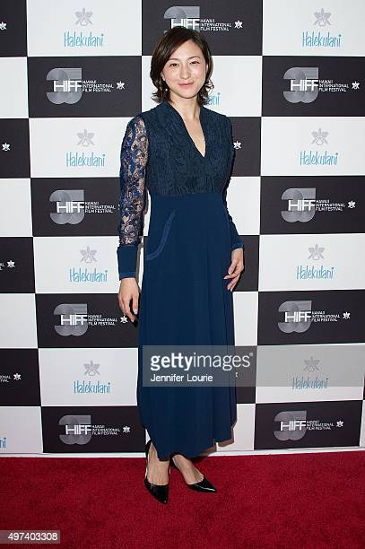 Ryoko Hirosue arrives at the 2015 Hawaii International Film Festival Awards Gala on November 15 2015 in Honolulu Hawaii