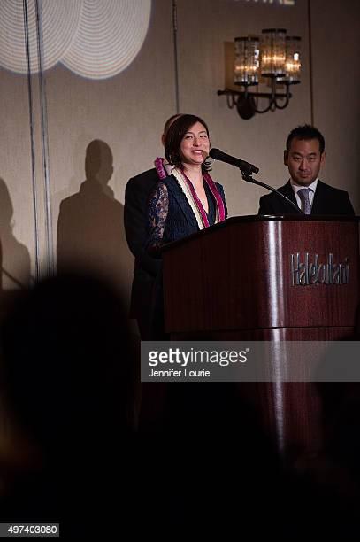 Ryoko Hirosue attends the 2015 Hawaii International Film Festival Awards Gala on November 15 2015 in Honolulu Hawaii