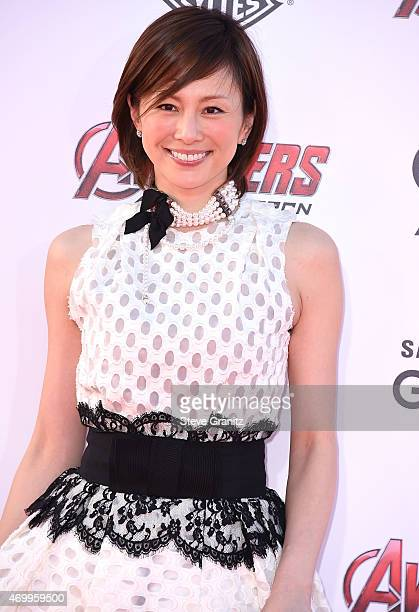 Ryoko Yonekura arrives at the Marvel's 'Avengers Age Of Ultron' Los Angeles Premiere at Dolby Theatre on April 13 2015 in Hollywood California