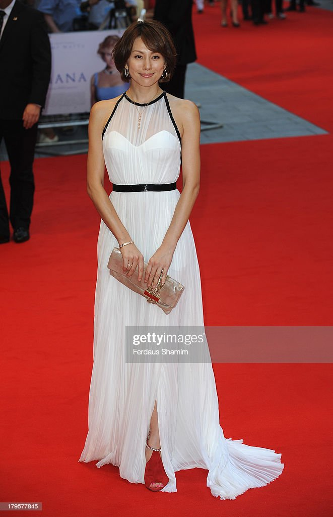 Ryoko Yonekura attends the World Premiere of 'Diana' at Odeon Leicester Square on September 5, 2013 in London, England.