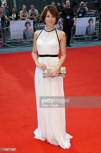 Ryoko Yonekura attends the world premiere of 'Diana' at The Odeon Leicester Square on September 5 2013 in London England