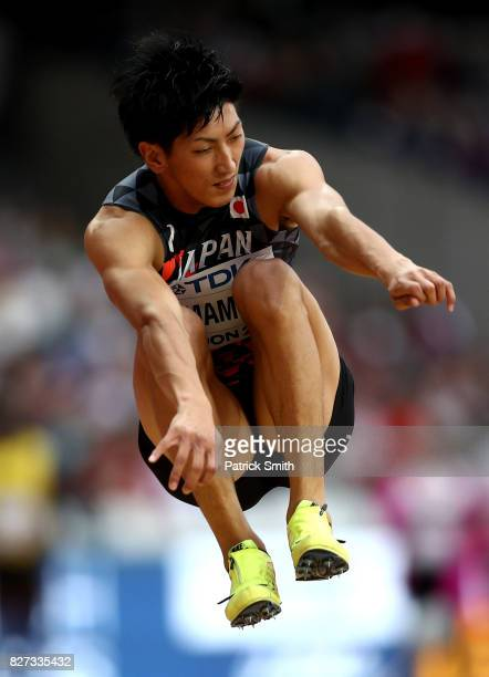 Ryoma Yamamoto of Japan competes in the Men's Triple Jump qualification during day four of the 16th IAAF World Athletics Championships London 2017 at...