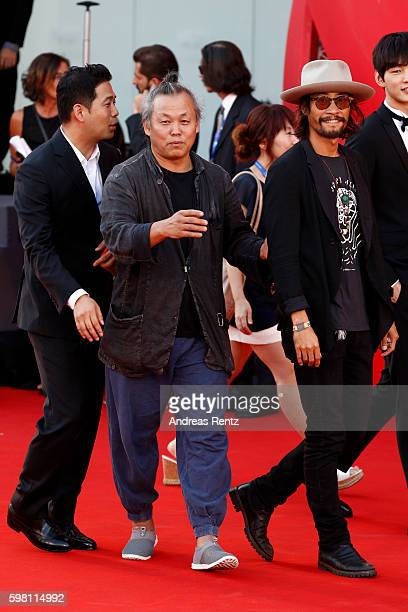 Ryoo SeungBum and Kim Kiduk attend the opening ceremony and premiere of 'La La Land' during the 73rd Venice Film Festival at Sala Grande on August 31...