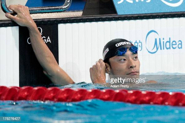 Ryosuke Irie of Japan competes during the Swimming Men's Backstroke 200m Semifinal 1 on day thirteen of the 15th FINA World Championships at Palau...
