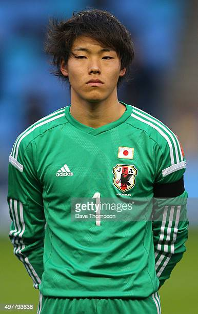 Ryosuke Kojima of Japan during the U19 International friendly match between England and Japan at Manchester City Academy Stadium on November 15 2015...
