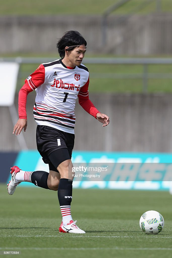 Ryota Doi of Grulla Morioka in action during the J.League third division match between Fujieda MYFC and Grulla Morioka at the Fujieda Stadium on May 1, 2016 in Fujieda, Shizuoka, Japan.