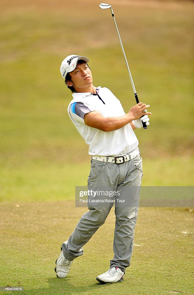 Ryota Ito of Japan plays a shot during round three of the Asian Tour Qualifying School Final Stage at Springfield Royal Country Club on January 25, 2013 in Hua Hin, Thailand.