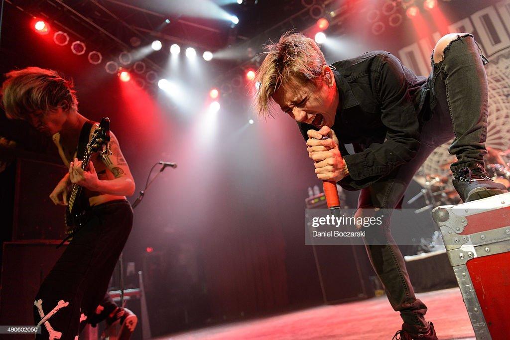 Ryota Kohama and Takahiro Moriuchi of One Ok Rock perform at House Of Blues Chicago on September 29, 2015 in Chicago, Illinois.