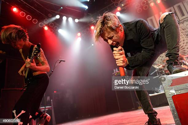 Ryota Kohama and Takahiro Moriuchi of One Ok Rock perform at House Of Blues Chicago on September 29 2015 in Chicago Illinois