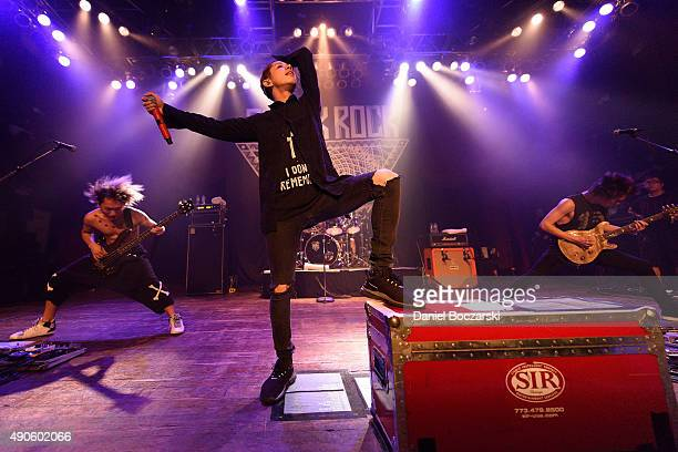 Ryota Kohama Takahiro Moriuchi and Toru Yamashita of One Ok Rock perform at House Of Blues Chicago on September 29 2015 in Chicago Illinois