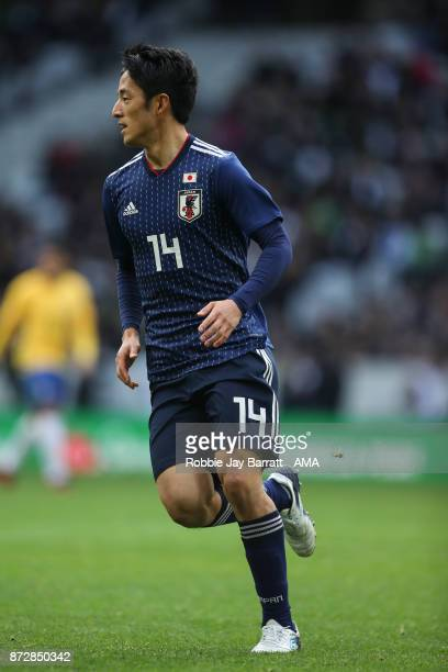Ryota Morioka of Japan during the international friendly match between Brazil and Japan at Stade PierreMauroy on November 10 2017 in Lille France