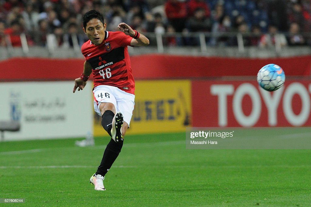 Ryota Moriwaki #46 of Urawa Red Diamonds in action during the AFC Champions League Group H match between Urawa Red Diamonds and Pohang Steelers at the Saitama Stadium on May 3, 2016 in Saitama, Japan.