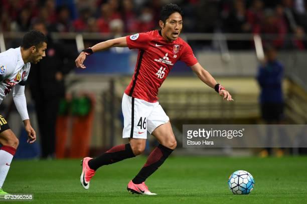 Ryota Moriwaki of Urawa Red Diamonds in action during the AFC Champions League Group F match between Urawa Red Diamonds and Western Sydney at Saitama...