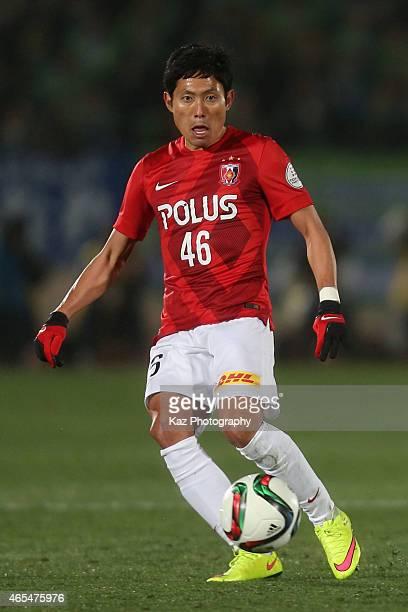 Ryota Moriwaki of Urawa Red Diamonds in action during the J League match between Shonan Bellmare and Urawa Red Diamonds at Shonan BMW Stadium...