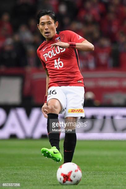 Ryota Moriwaki of Urawa Red Diamonds in action during the JLeague J1 match between Urawa Red Diamonds and Ventforet Kofu at Saitama Stadium on March...