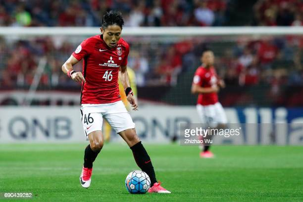 Ryota Moriwaki of Urawa Reds Diamonds controls the ball during the AFC Champions League Round of 16 match between Urawa Red Diamonds and Jeju United...