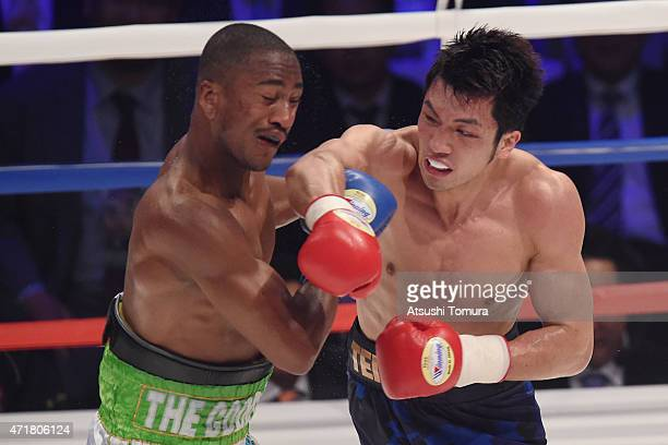 Ryota Murata of Japan and Douglas Damiao Ataide of Brazil exchange punches during the nontitle bout between Ryota Murata of Japan and Douglas Damiao...