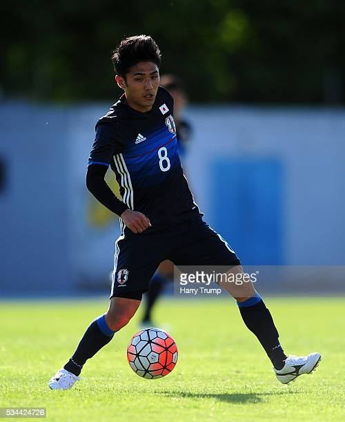 Ryota Ohshima of Japan during the Toulon Tournament match between Japan and Portugal at Stade De Lattre on May 23 2016 in Aubagne France