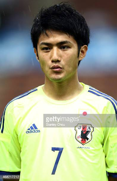 Ryota Oshima of Japan during the AFC U23 Championship qualifier Group I match between Japan and Malaysia at Shah Alam Stadium on March 31 2015 in...