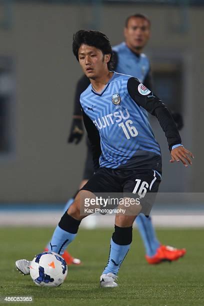 Ryota Oshima of Kawasaki Frontale in action during the AFC Champions League Group H match between Kawasaki Frontale and Ulsan Hyundai at Todoroki...