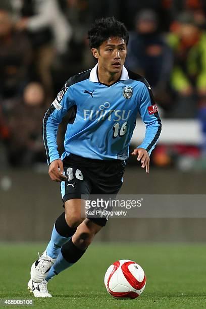 Ryota Oshima of Kawasaki Frontale in action during the JLeague Yamazaki Nabisco Cup match between Shimizu SPulse and Kawasaki Frontale at IAI Stadium...
