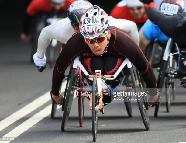 Ryota Yoshiba of Japan competes during the Virgin Money London Marathon on April 23 2017 in London England